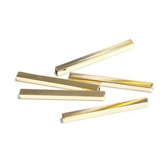 【4個入り】約35mm、厚み約3mmのゴールドパイプ、レジン、パーツ