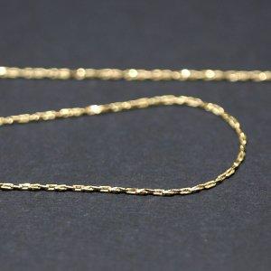 【1メートル 1meter】極細約0.48mm ゴールドプレート真鍮チェーン