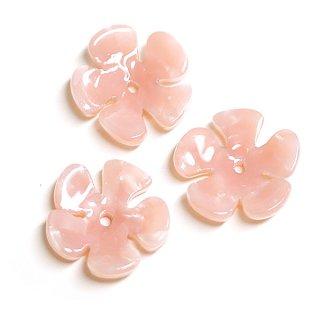 【1個入り】桜ピンクカラーフラワーモチーフ!セルロース (acetylcellulose)樹脂パーツ