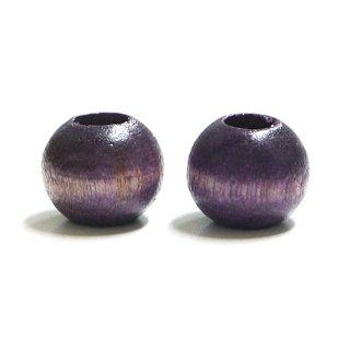 Vintage Purpleヴィンテージパープルカラー13mmウッドビーズ、パーツ