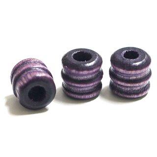 Vintage Purpleヴィンテージパープルカラーウッド製ビーズ、パーツ