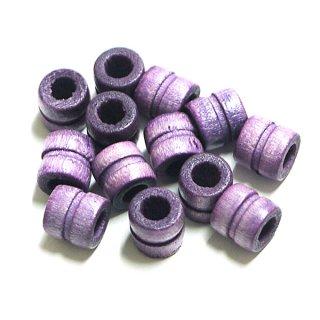 Lavenda Purpleラベンダーパープルカラーウッド製ビーズ、パーツ