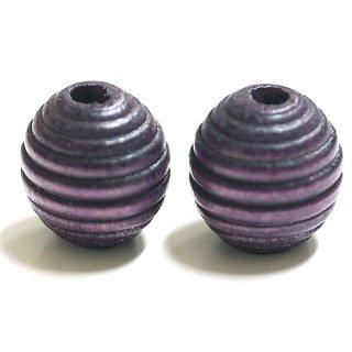16mmLavenda Purpleラベンダーパープルカラー円形ウッド製ビーズ、パーツ