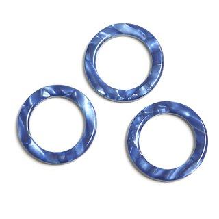 【1個】ロイヤルブルーカラー約18mm円形!セルロース (acetylcellulose)樹脂パーツ