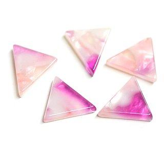 【1個】ピンク&ラベンダーカラー三角形10mmカボション!セルロース (acetylcellulose)樹脂パーツ