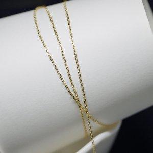 【1メートル 1meter】約1.0mm ゴールドプレート真鍮チェーン