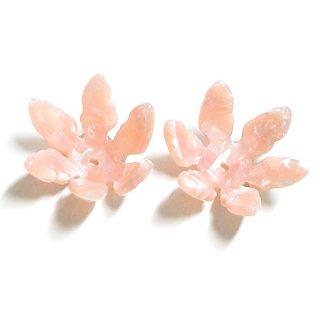 【1個】Pink Jadeカラー約34mm立体サクラモチーフ!セルロース (acetylcellulose)樹脂