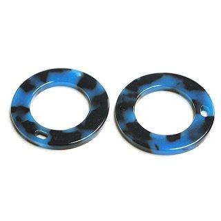 【1個】ブルー&ブラックカラー29mm!セルロース (acetylcellulose)樹脂パーツ