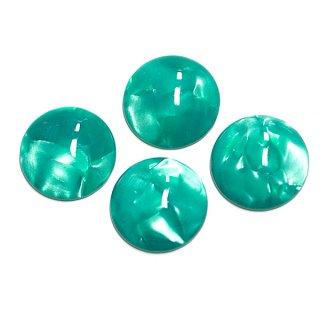 【1個】Royal Green Jadeカラー14mm半球形カボション、ビーズ、パーツ
