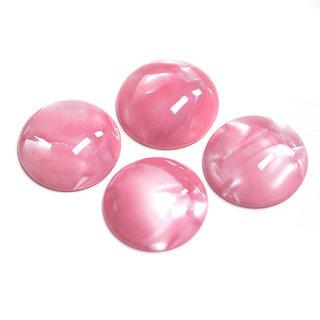 【1個】RosePink Jadeカラー14mm半球形カボション、ビーズ、パーツ