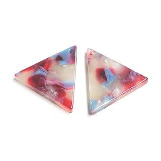 【1個】カラフル18mm三角形!セルロース (acetylcellulose)樹脂パーツ