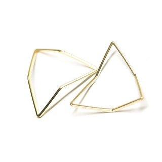 【2個入り】3D立体的な三角形Triangleマットゴールドパーツ
