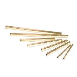 お試し【8個入り】25mm,35mm,45mm,75mmゴールドパイプ、パーツ、金具