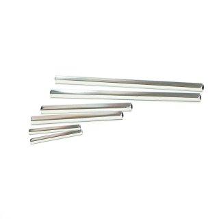 お試し【6個入り】25mm,45mm,75mmシルバーパイプ、パーツ、金具