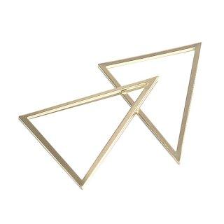 【1個】しっかりしたTriangle三角形マットゴールド40×50mmチャーム