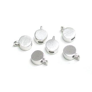 【6個入り】約3mm円形マットシルバー留め金具、ストッパー