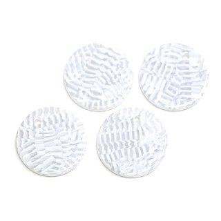 【1個】ホワイトカラー約20mm 円形!チャーム、パーツ 050