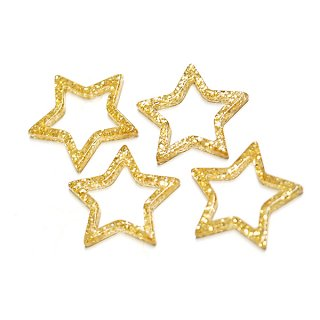 【1個】金ラメ入りのゴールドスターセルロースチャーム