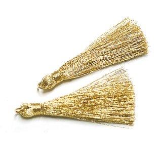 【2個入り】Shinny Goldゴールドカラー約50mm タッセル、チャーム