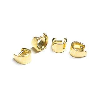 【4個入り】つるんとした丸みあるA形ゴールドバチカン、パーツ