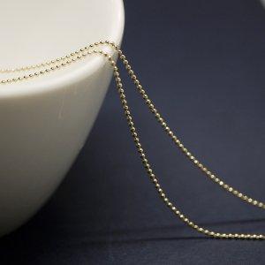 約1mm ボール Ball ゴールドプレート真鍮チェーン