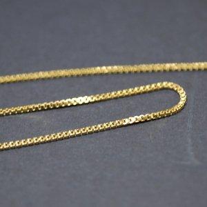 約0.9mm ボックス BOX ゴールドプレート真鍮チェーン