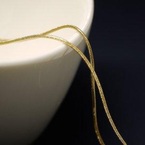 約1mm スネーク Snakeゴールドプレート真鍮チェーン
