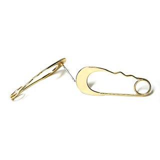 【1ペア】チタン芯!光沢ゴールド留ピンStall Pinモチーフピアス