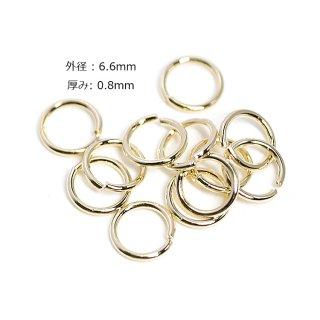 【約15g】内径約5.0mm/外径約6.6mm厚み約0.8mm丸カン真鍮製ゴールド