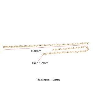 【4個入り】約100mm Pearl Chain 厚み約2mmゴールドチェーンチャーム、パーツ
