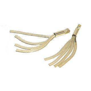 【2個入り】真鍮製の約64mmゴールドタッセルチャーム、ペンダント