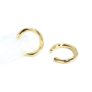 【1個】凹凸ある約2mmシンプル光沢ゴールドイヤーカフ NF