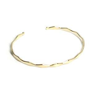 【1個】華奢なダイヤモンドモチーフのゴールドバングル、ブレスレット
