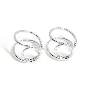 【1個】存在感ある円形モチーフのシルバーフリーリング、指輪