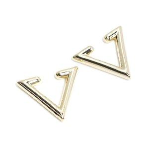 【1個】Modern Triangleの真鍮製ゴールドイヤーカフ、軟骨ピアス