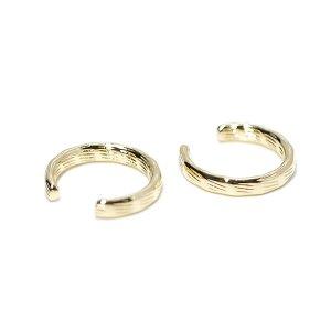 【1個】凹凸ある表面の真鍮製ゴールドイヤーカフ、軟骨ピアス