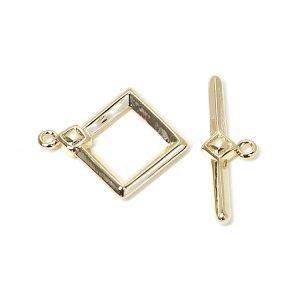 【1セット】装飾付きダイヤモンド形&スティックのゴールドマンテルセット、エンドパーツ NF
