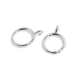 【2個入り】華奢な円形のシルバーチャーム、ペンダント NF