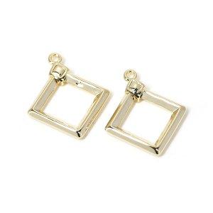 【2個入り】ダイヤモンド装飾付きゴールドチャーム、ペンダント NF