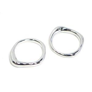 【1点】手作り感あるBold Designシルバーリング、指輪 NF