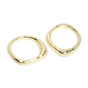 【1点】手作り感あるBold Designゴールドリング、指輪 NF