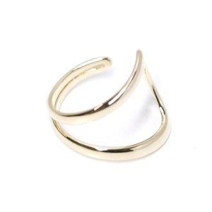 【1点】Stylish!大ぶりのゴールドフリーサイズリング、指輪 NF