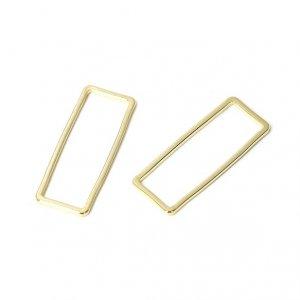 【1個】9*24mm長方形ゴールドコネクター、チャーム SS5