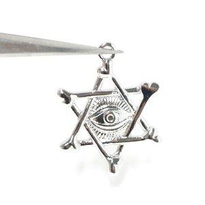 【2個入り】Evil Eye Star星モチーフシルバーチャーム NF