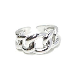 【1点】Knot Band上品な存在感のシルバーフリーサイズリング、指輪 NF
