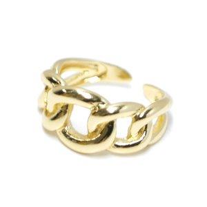【1点】Knot Band上品な存在感のゴールドフリーサイズリング、指輪 NF