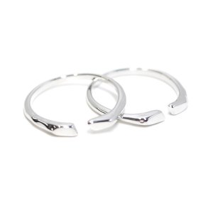 【1個】シック&シンプルのシルバーフリーサイズリング、指輪 NF