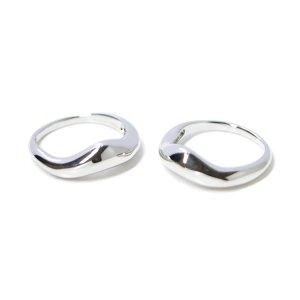 【1点】ボリューム曲線のBold Designシルバーリング、指輪 NF