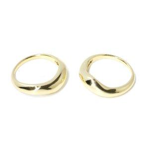 【1点】ボリューム曲線のBold Designゴールドリング、指輪 NF