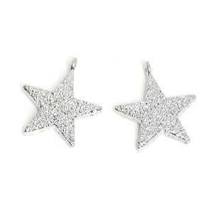 【2個入り】THE STAR凹凸ある星モチーフシルバーチャーム NF